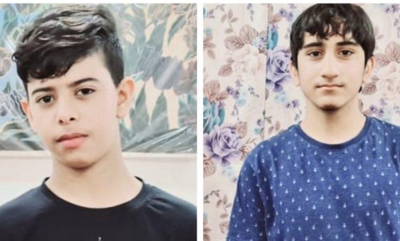الطفلان حسين محمد أيوب ومحمد راشد عبد النبي